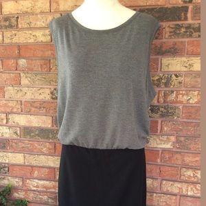 Rachel Roy Black & Gray Knit Dress XXL XL